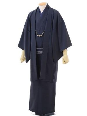 ワンタッチ 男 単衣(S 161-166cm)濃紺