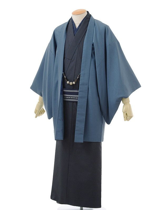 ワンタッチ 男 袷(S 163-168cm)濃紺