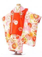 七五三(3歳女)H339 式部浪漫 赤×ピンク