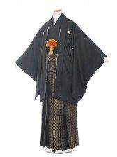 ジュニア(13男)1371-3 黒/黒おしゃれ袴