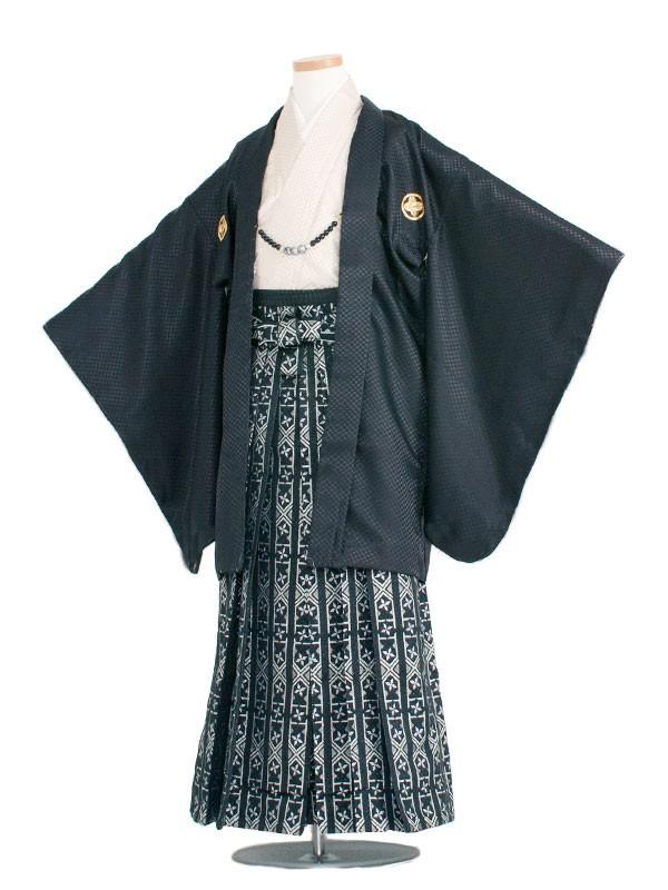 小学生卒業式袴男児1340 黒/クリーム袴