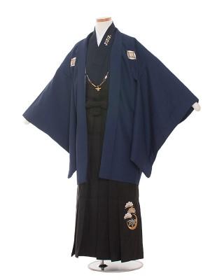 小学校 卒業式 男の子 袴1430 紺/黒袴