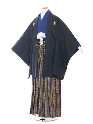 小学生卒業式袴レンタル(男の子)1381 紺色/青