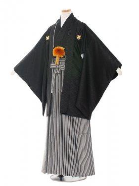 ジュニア(13男)1401-8 黒/黒シルバー袴