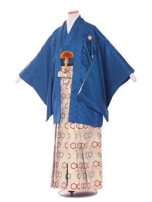 小学校 卒業式 男の子 袴1514紺×金系袴