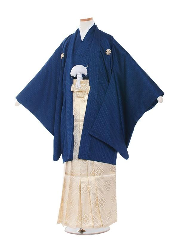 小学生卒業式袴男児1011 濃紺×金袴