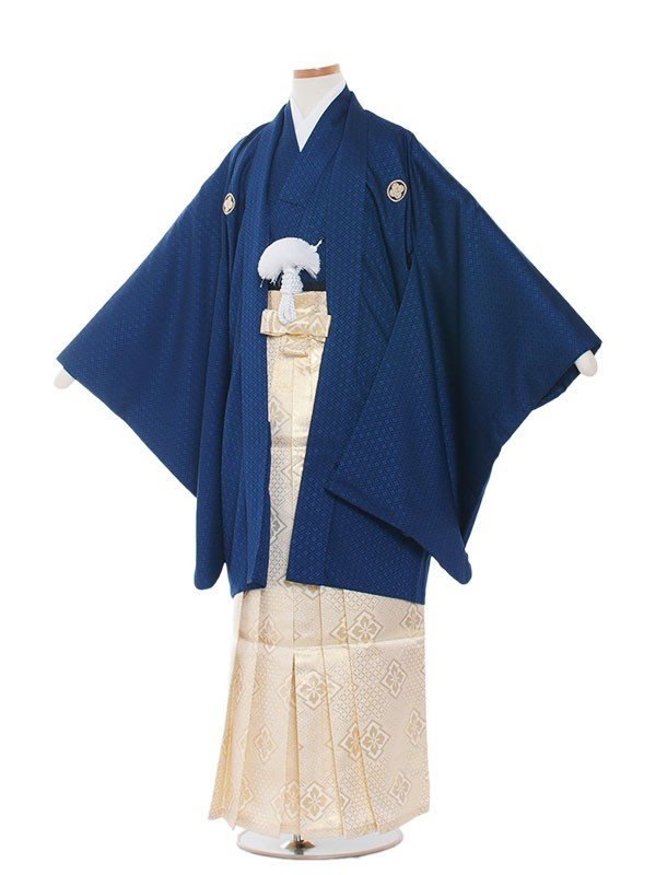 小学生卒業式袴レンタル(男の子)1011 濃紺×金袴