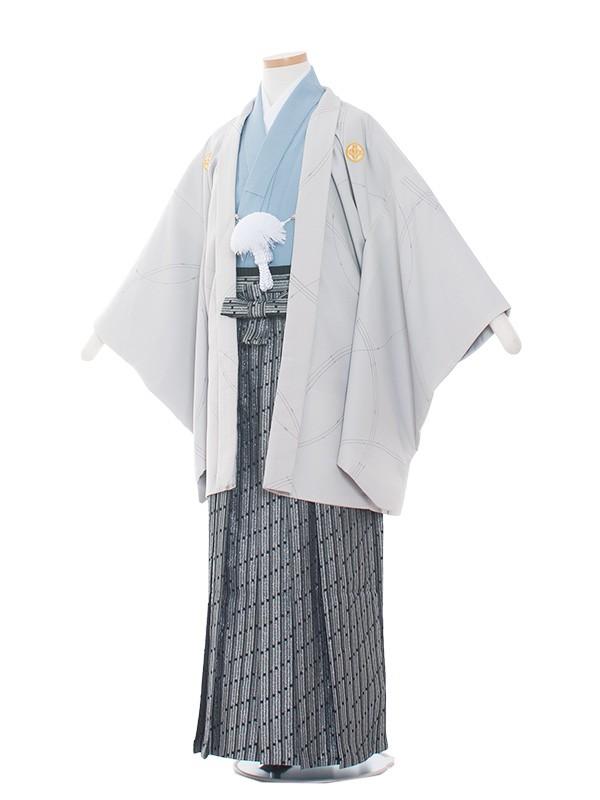 小学生卒業式袴レンタル(男の子)1409 グレー/水色