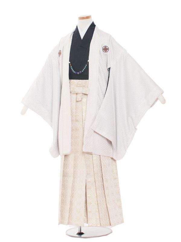 小学生卒業式袴男児1322 白×紫/袴