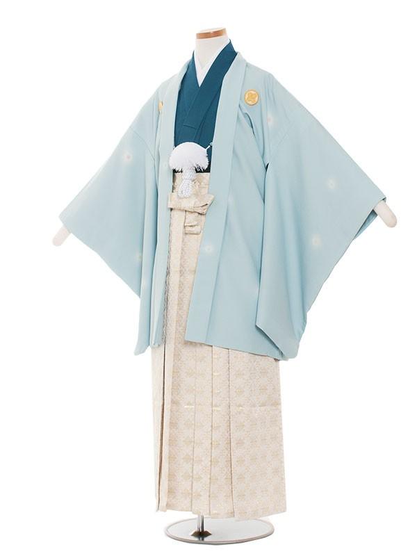 小学生卒業式袴男児1379 水色/青