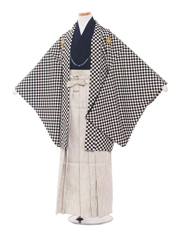 小学生卒業式袴男児1350  白黒格子/袴
