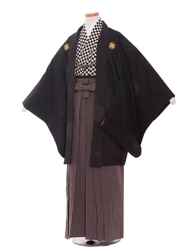 小学生卒業式袴男児1325 黒白格子/袴