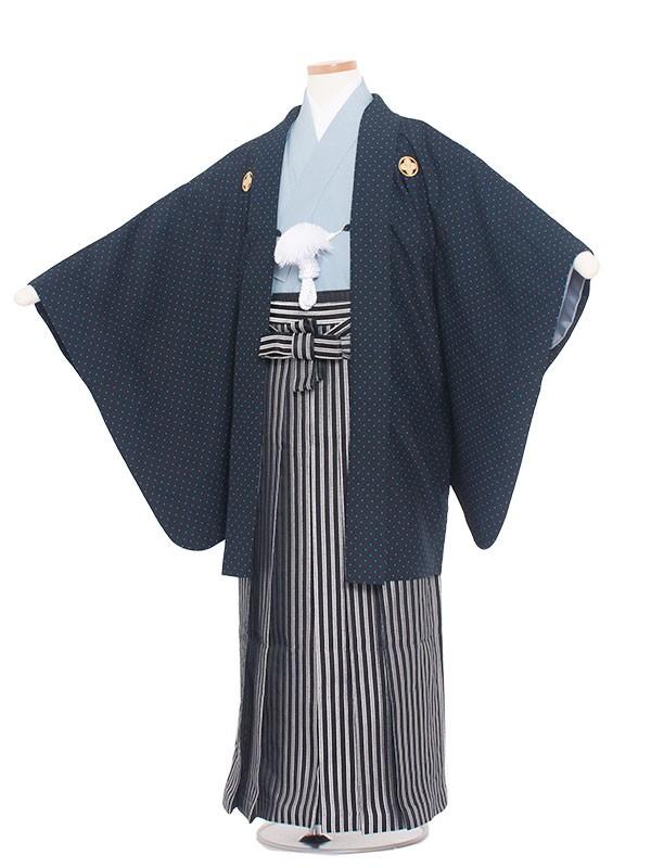 小学生卒業式袴レンタル(男の子)1423 黒/ドット