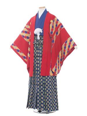 小学校 卒業式 男の子 袴1561赤/ジッパー柄