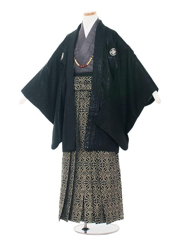 小学生卒業式袴男児1342 黒/グレー袴