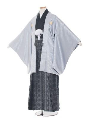 小学校 卒業式 男の子 袴1501-7グレー/黒