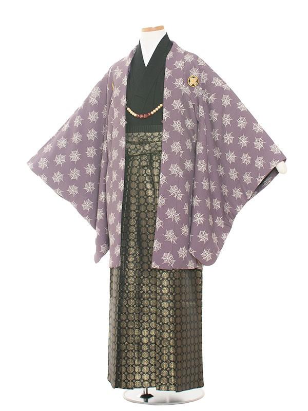 小学生卒業式袴レンタル(男の子)1360 小豆色/袴85