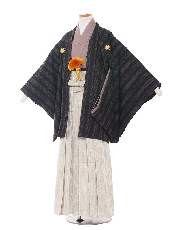 小学生卒業式袴男児1315 パ-プル/袴