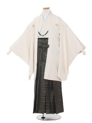 小学校 卒業式 男の子 袴1347 アイボリー/クリーム袴80