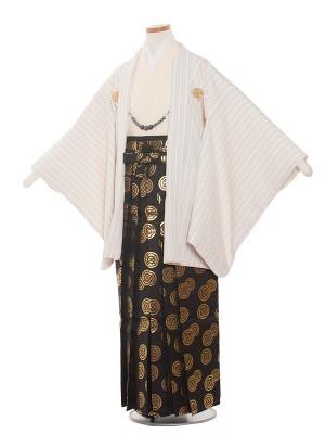 小学校 卒業式 男の子 袴1368 クリームストライプ 袴85cm