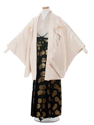 小学生卒業式袴レンタル(男の子)1343-3 クリーム/袴