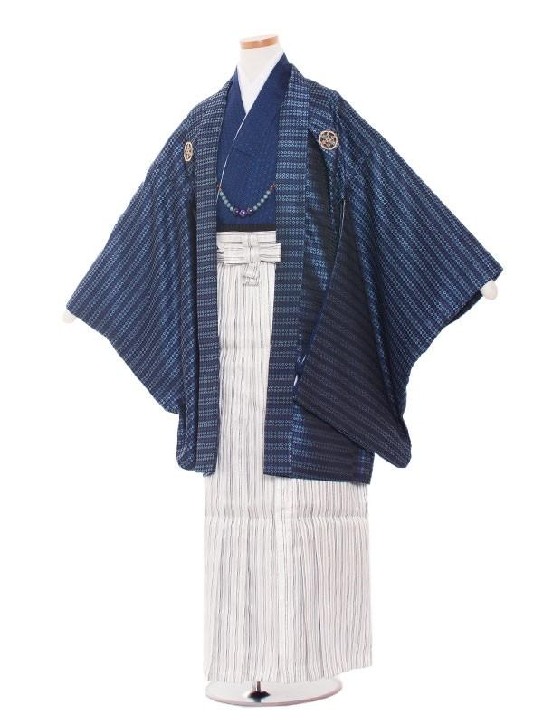 小学生卒業式袴レンタル(男の子)1010 青ダイヤ/袴