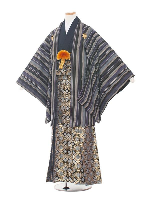 小学生卒業式袴レンタル(男の子)1319 紺ストライプ/袴