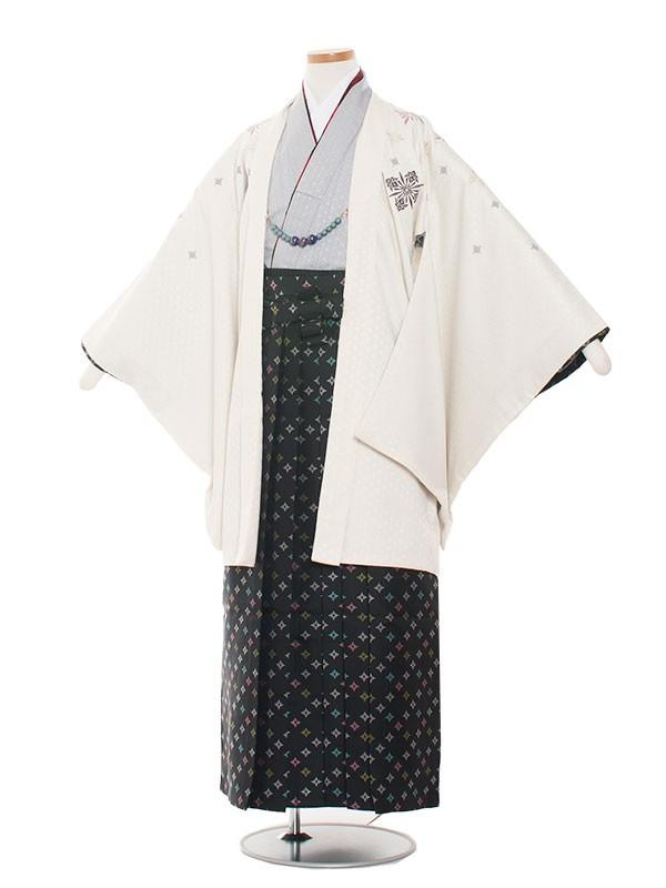 小学生卒業式袴男児1332 クリーム/おしゃれ袴