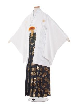 小学校 卒業式 男の子 袴1526白地×金丸袴