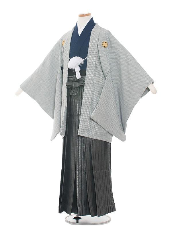 小学生卒業式袴レンタル(男の子)1405 おしゃれグレー
