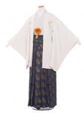 ジュニア(13男)1365 グレーストライプ-2袴85cm