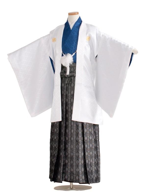 小学生卒業式袴男児1375-5 白/紺