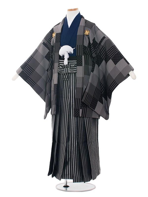 小学生卒業式袴男児1411 おしゃれ格子
