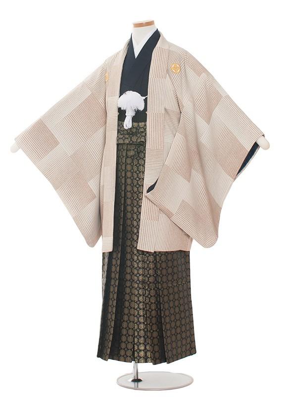 小学生卒業式袴レンタル(男の子)1359 クリーム/袴85