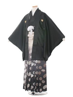 小学生卒業式袴レンタル(男の子)1524黒紋付