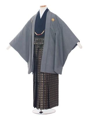 小学生卒業式袴レンタル(男の子)1382 鮫小紋