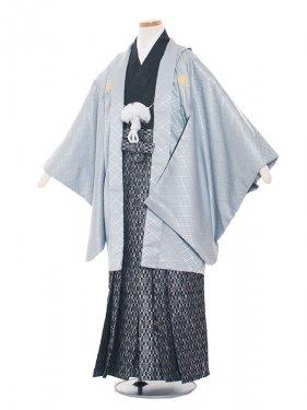 ジュニア(13男)jr1335アイスグレー×黒/袴