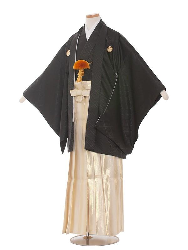 小学生卒業式袴男児1509 黒/金袴