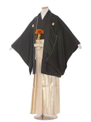小学校 卒業式 男の子 袴1509 黒/金袴