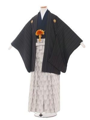 小学校 卒業式 男の子 袴1505ストライプ黒