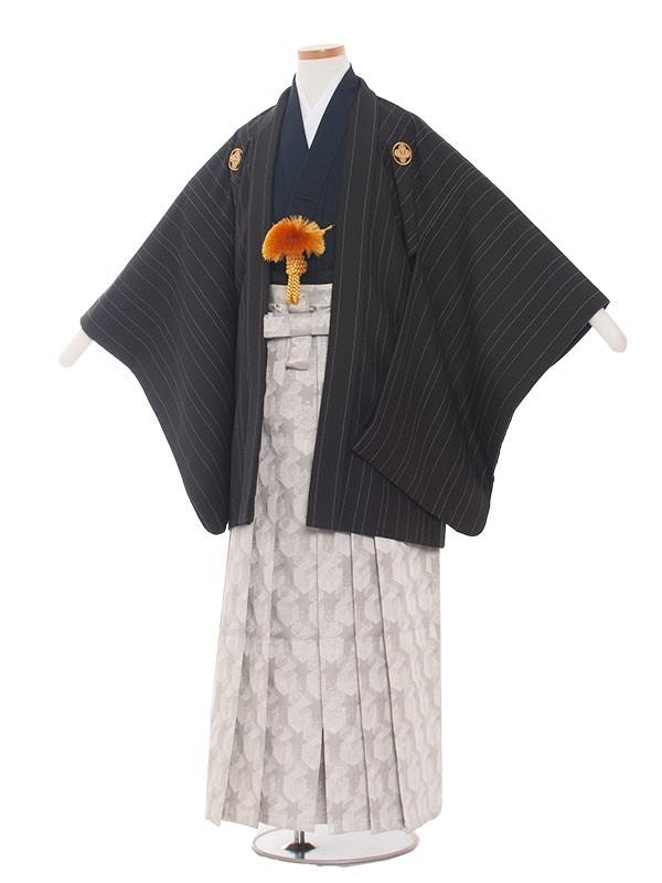 小学生卒業式袴男児1505ストライプ黒