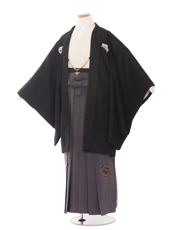 小学生卒業式袴レンタル(男の子)1418黒×オフ白/小町