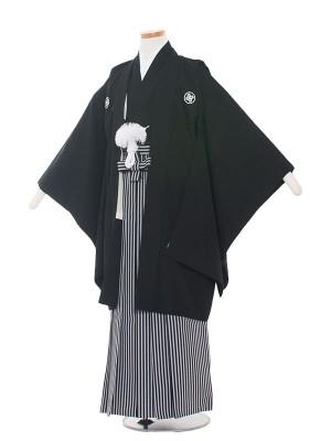 小学生卒業式袴レンタル(男の子)1009 定番黒/袴-2