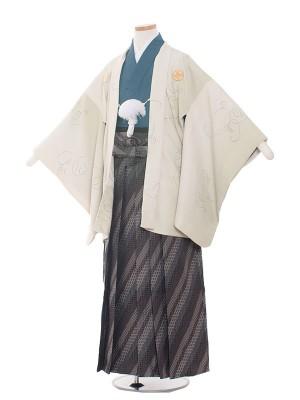 小学生卒業式袴レンタル(男の子)1502-2淡いグリーン