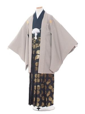小学校 卒業式 男の子 袴1532 グレー/格子