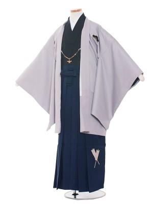 小学校 卒業式 男の子 袴1416グレー×黒/小町
