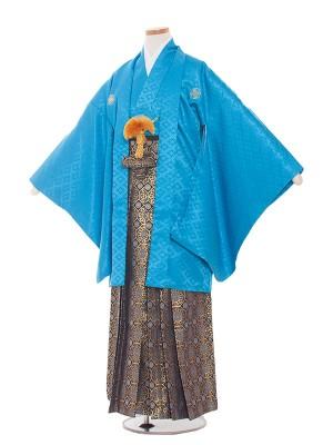 小学校 卒業式 男の子 袴1311 ブル-/青紋袴