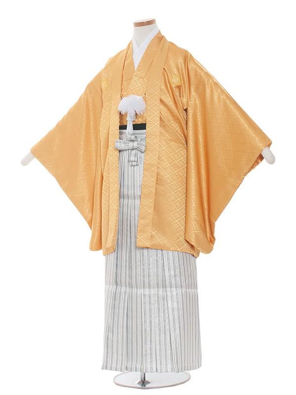 小学生卒業式袴男児1385 からし/白黒