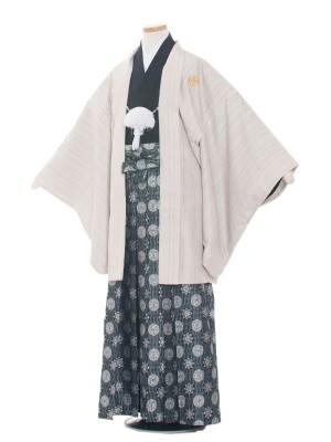 小学生卒業式袴レンタル(男の子)1530 ベージュ/縦模様