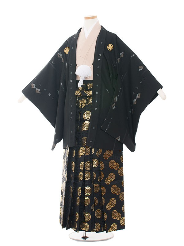 小学生卒業式袴レンタル(男の子)1504 おしゃれ黒